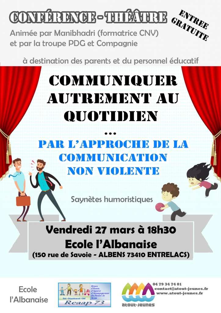 Affiche conférence Théatre